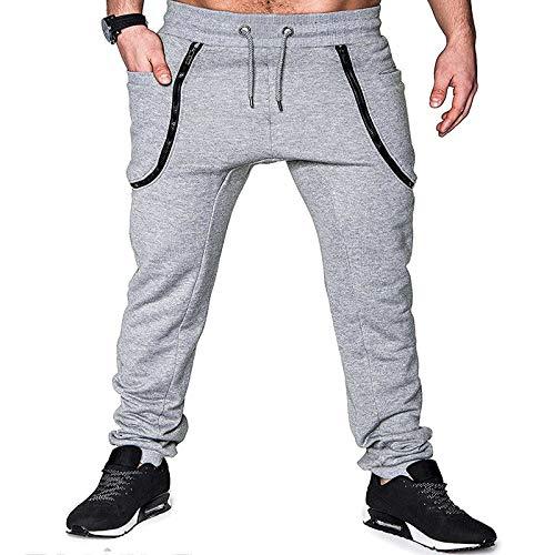 Katenyl Pantalones de Jogging para Hombre, cómodos y Casuales, Deportivos, Deportivos, Moda al Aire Libre, Cintura elástica, Pantalones cónicos L