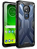 Poetic Moto G7 Power Case, Moto G7 Supra Case, Moto G7 Optimo Maxx Case, Rugged Protective Bumper Cover, Military Grade Drop Tested, Affinity Series, DO NOT FIT Moto G7/ G7 Play, Frost Clear/Black