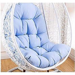 Coussin de Chaise de Berceau de Jardin, Coussins en Forme de nid d'oeuf, Coussin de Chaise pivotante Doux Coussin de…