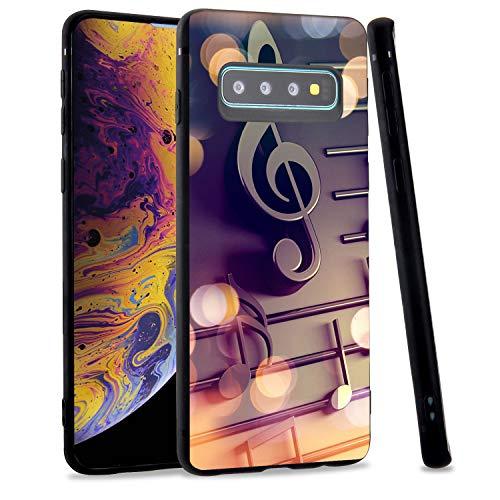 LuGeKe Schutzhülle für Samsung Galaxy S8+ Plus, elegante Musik-Optik, weiche TPU-Hülle, flexibel, ultradünn, kratzfest, für Jungen