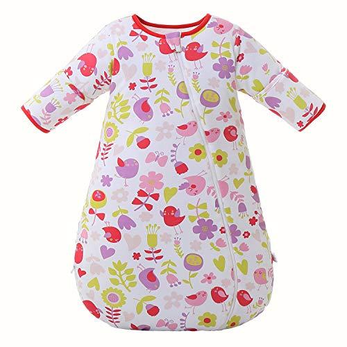 Baby Winter schlafsack Kinder schlafsack 3.5 Tog Schlafsaecke aus Bio Baumwolle Verschiedene Groessen von Geburt bis 3 Jahre alt(S/Koerpergroesse 60-70cm)
