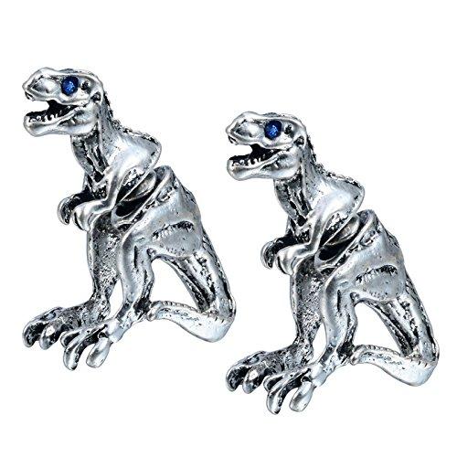 BeyDoDo Modeschmuck Vergoldet Ohrringe für Damen Herren 3D Piercing Tier Dinosaurier Piercing Ohrstecker
