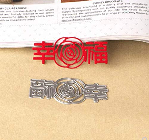 Snijsjabloon DIY Mes Knurling Machine Papier Machine Geluk Rose Handgemaakte Hand Card Maken 6X2.5Cm