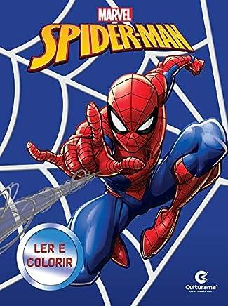 Livro Médio Ler e colorir - Homem Aranha Novo