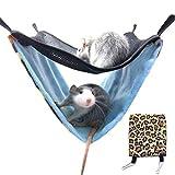 Hamster Hängematte Haustier Hängen Bett Nest Doppelschicht Atmungsaktives Mesh Plüsch