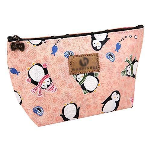 Oxford-Tuch Muster Drucken Mäppchen Headset-Tasche Aufbewahrungstasche Brieftasche Datenleitung Schlüsselbox Schmuck 22 * 8 * 13 cm(Kleiner Pinguin)
