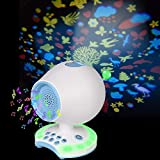 Sleep Sound Machine,Animal Ceiling Projector,7 Colors Night Light,White Noise Music Lullaby Sound Spa Soother for Sleeping,Auto-Off Timer,AC Plug in/Battery Powered for Baby Kids Crib Bedroom