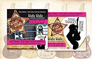 (3 Packs) Walla Walla Guitar Company Steel Tango Strings .009 Light Gauge