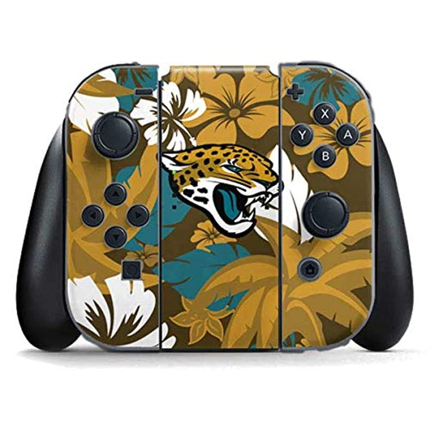 Skinit Jacksonville Jaguars Tropical Print Nintendo Switch Joy Con Controller Skin - Officially Licensed NFL Gaming Decal - Ultra Thin, Lightweight Vinyl Decal Protection