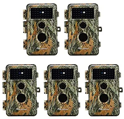 BlazeVideo 16MP HD No Glow Infrared Flash Scouting Game Trail Hunting Wildlife Cameras Cam Motion Sensor Activated Waterproof Night Vision 40pcs IR LEDs