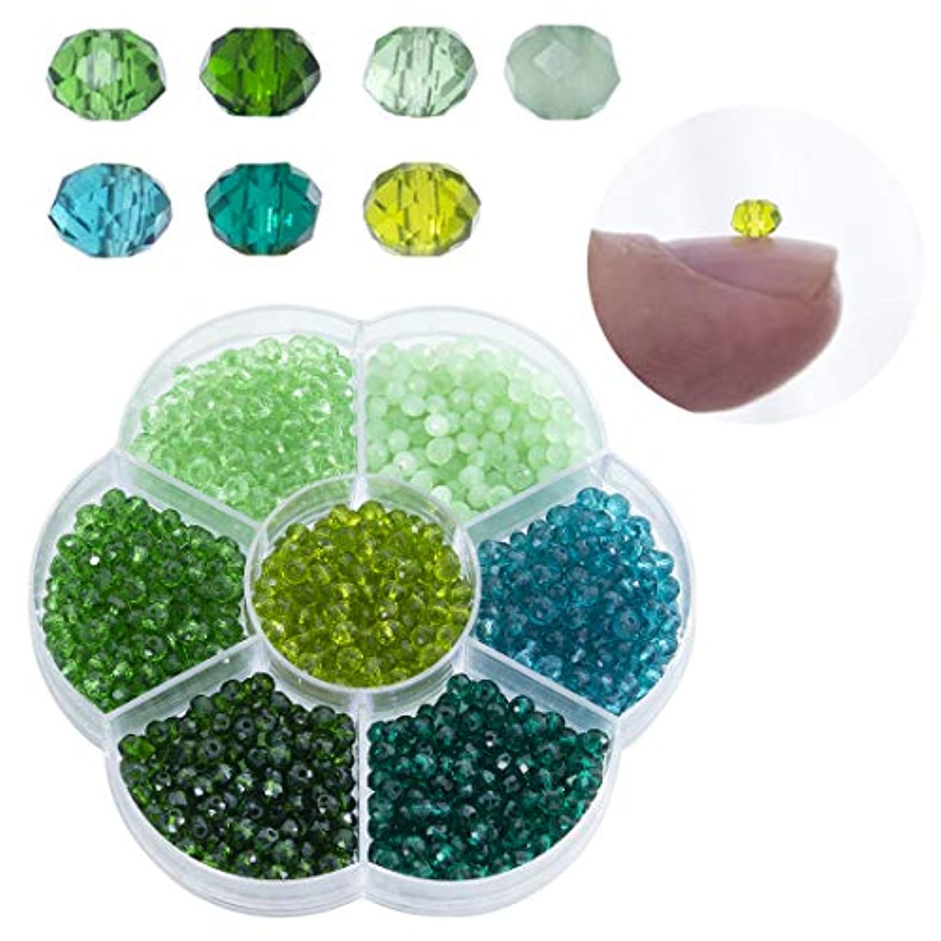 Lot 1050pcs Glass Bicone Beads-Wholesale 4mm Bicone Shaped Crystal Faceted Beads Jewelry Making Supply for DIY Beading Projects, Bracelets, Necklaces with Container Box(Style1)