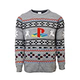 Official Playstation Console Christmas Jumper/Ugly Sweater UK L/US M Grey