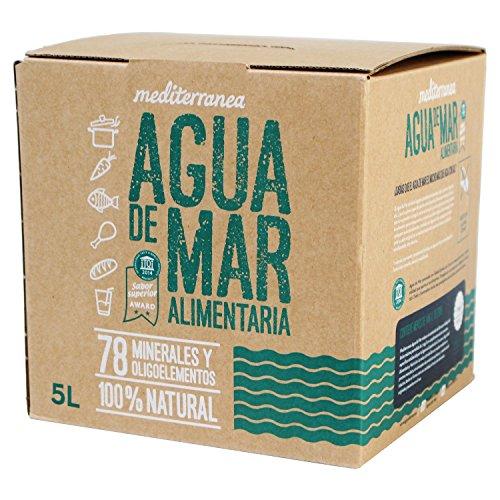 Mediterranea Agua de Mar Alimentaria en Envase de 5 Litros