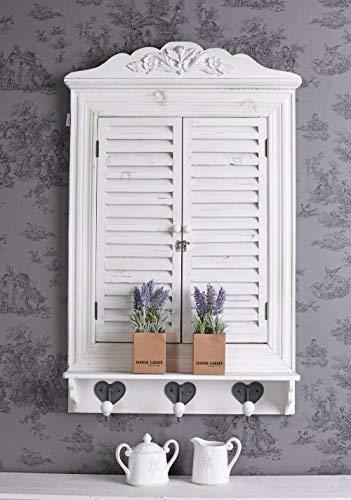 Fensterladen Spiegel Wandspiegel mit Türen Spiegelfenster Shabby Chic Spiegel mxa050 Palazzo Exklusiv