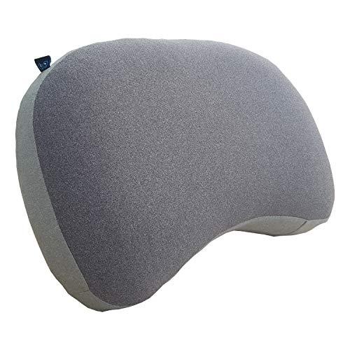 Journext Coussins de Camping gonflables et oreillers de Voyage - Surface Souple, compacte et légère - pour la Plage, Le Voyage et l extérieur (Grey)