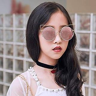 weichuang - Gafas de sol de metal negro redondo niños gafas de sol marca niña/niño bebé niño gafas gafas pequeño traje cara para 2 ~ 10 edad gafas de sol