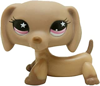 Meidexian888 Figure Toy Dog, LPS Dog Pet Shop Cream Toy Party Decorations Collector Brown