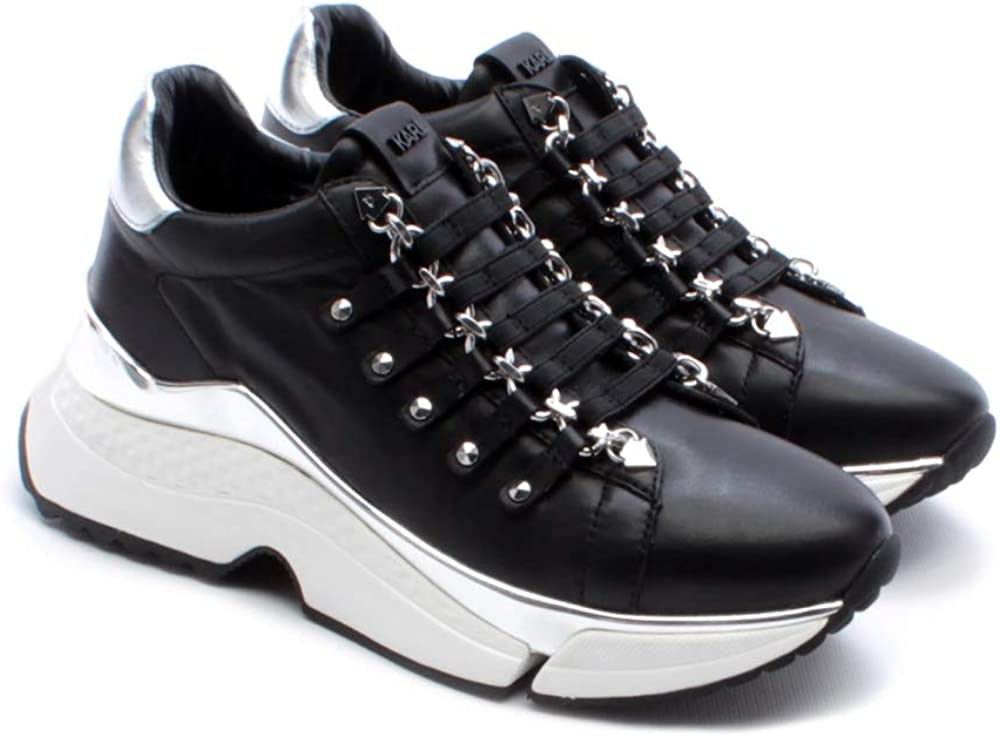 Karl lagerfeld runner aventur chain,scarpe sneakers per donna,in vera pelle,numero 36 eu KLL61625