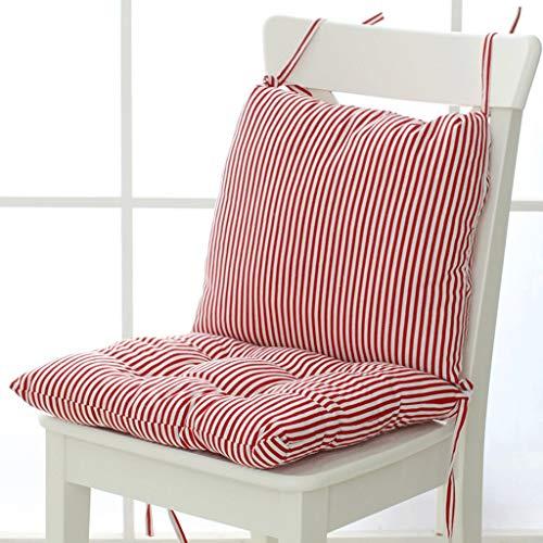 ZCXBHD kussen voor stoel, 100% wasgoed, huis, stof, stropdas, design, antislip, dik, voor tuin, matras, een lichaam, houdt warm, luchtkussens, geschikt voor alle 9,23