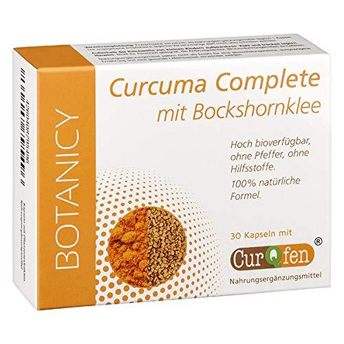 CURCUMA COMPLETE mit Bockshornklee - Hochdosierte Kapseln ohne Pfeffer mit CurQfen, 100% natürlich, 30 Kapseln