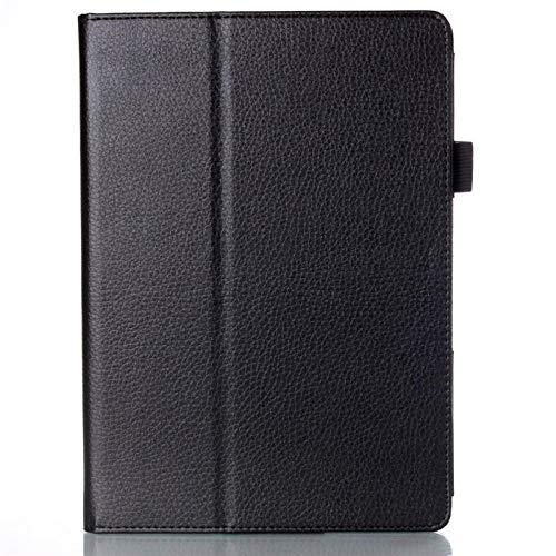 Funda de Cuero PU con Soporte para Lenovo IdeaTab 10,1 A10-70 A7600 A7600-h / A7600-f Tablet PC Tablette Stands Funda 2015-Negro
