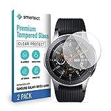 smartect Pellicola Protettiva per Samsung Galaxy Watch 46 mm [2 Pezzi] - 9H Vetro Temperato – Design Ultra Sottile – Applicazione Anti-Bolle – Anti-Impronte