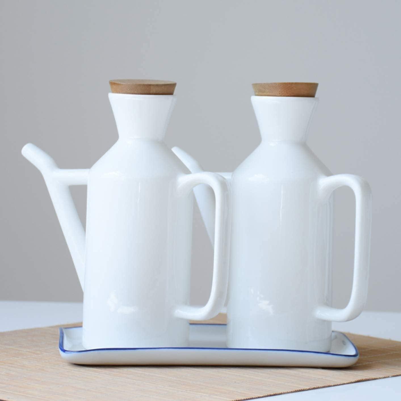 Olive List price Oil Dispenser 280ml White Bottle Max 88% OFF Ceramic Ol
