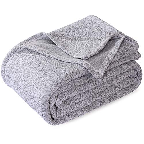 KAWAHOME Knit Blanket Lightweight Breathable Fuzzy Heather...
