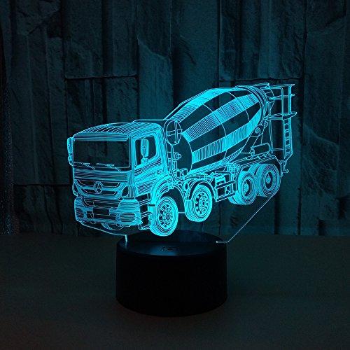3D Stereoskopische Tischlampe Usb Power Edhesizität Touch Schalter Stereoskopische Tischplatte Lampe Mixer Modellierung