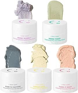 I DEW CARE Mini Magic Clay Mask Set 5ea, Pore-detoxifying jelly clay mask, Wash-off mask, Facial healing mask, Mud mask kit, Colorful mini mask