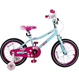 JOYSTAR 16 Inch Girls Bike with Training Wheels for 4 5 6 7 Years Old Kids, Birthday Gift Children Bicycle with Training Wheels and Hand Brake, Blue