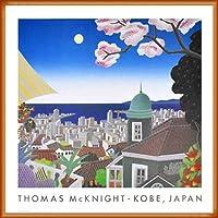 ポスター トーマス マックナイト 神戸 日本 額装品 ウッドベーシックフレーム(オレンジ)