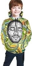 Knbro Print with Kid Cudi Man On The Moon II Youth Boys Girls Hooded Seatshirts Sweater Pullover Hoodies