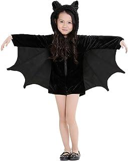 Cuteshower Kids Bat Jumpsuit Halloween Costume for Girls