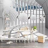 XHXI Foto Papel tapiz 3D Papel 3D Estéreo Círculo Bola Galería Edificio Espace Paisaje Pintura de pared Sala de estar Co 3D papel Pintado de pared tapiz Decoración dormitorio Fotomural-200cm×140cm