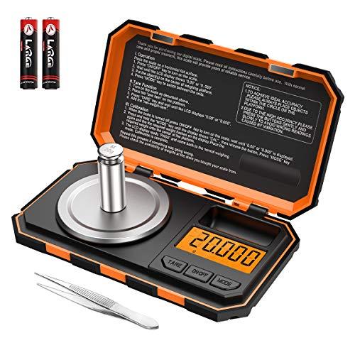 Criacr Báscula Digitales de Precisión, 20g/0.001g Báscula