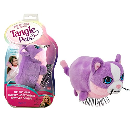 Price comparison product image Tangle Pets CUPCAKE THE CAT- The Detangling Brush in a Plush,  Great for Any Hair Type,  Removable Plush,  As Seen on Shark Tank