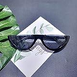 Lunettes de soleil demi-cadre coupe-vent Net Red Retro Cat Eye Sunglasses Femme Rue Tide Tir Lunettes de soleil Homme (Color : Style 5)