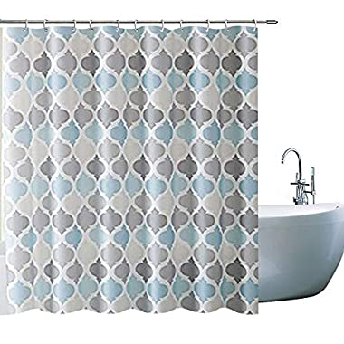Bathroom Shower Curtain Creative Geometry Shower Curtains with 12 Hooks Waterproof Mildew Resistant Fabric Bath Curtain Sets for Bathroom Decoration