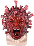 Horror Miedo máscara de látex de Halloween del fantasma de la mascarada del casco, gorros de carnaval traje de cosplay Atrezzo DOISLL