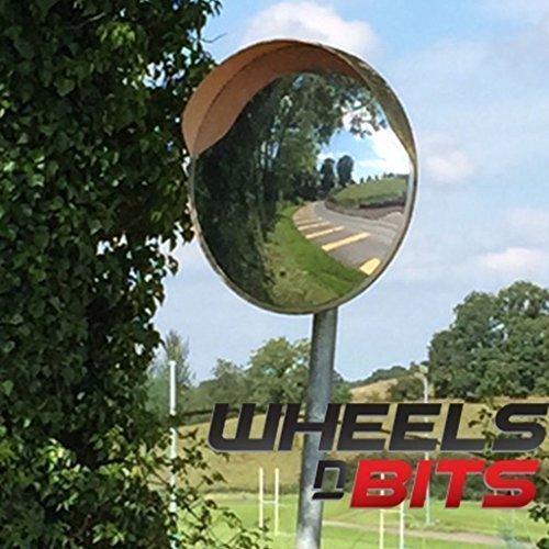 Wheels N Bits 30cm CONVEX BLIND SPOT SAFETY MIRROR TRAFFIC DRIVEWAY SHOP JUNCTION ORANGE BACK