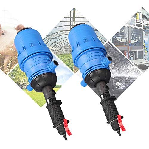 WOFEI 0.4% -4% Dünger Injektor Spender Wasserdosierpumpe Hydraulischer chemischer Dünger Injektor Dosierspender Flüssigverdünner Dosierer Dosierer für Tierhaltung Autowäsche,2 PCS,1inch X 2