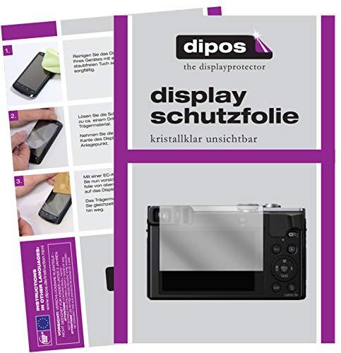 dipos I 6X Schutzfolie klar kompatibel mit Panasonic DMC-TZ71EG-S Lumix Folie Displayschutzfolie
