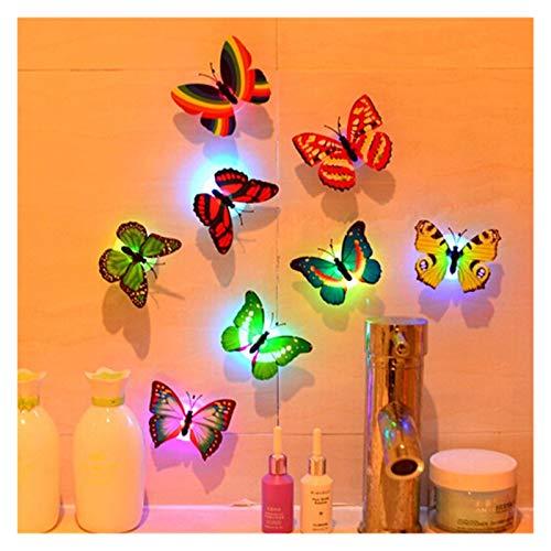 WHYBH HYCSP Wandaufkleber Schmetterling Licht-Wand-Aufkleber-Haus-Dekoration zufällige Farbe Wandaufkleber Tapete (Color : Random)