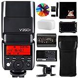 GODOX V350F TTL Camera Flash 2.4G GN36 1/8000s HSS Speedlight for Fuji Cameras GFX50S X-Pro2 X-T20 X-T2 X-T1 X-Pro1 X-T10 X-E1 X-A3 X100F (V350-F)