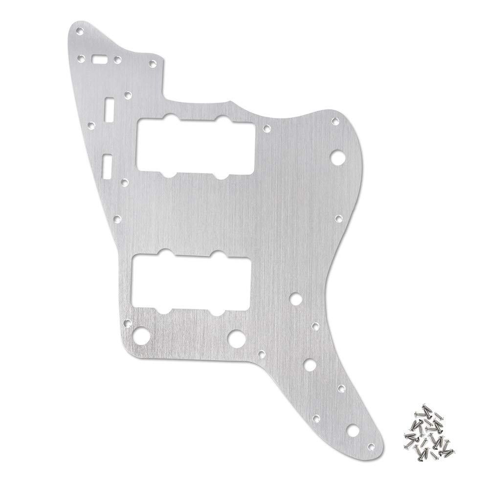 Cheap Electric Guitar Pickguard Backplate 13-Hole for American Standard JM Jazzmaster Guitar Silver Black Friday & Cyber Monday 2019