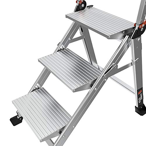 Little Giant Ladders, Jumbo Step, 3-Step, 2 Foot, Step Stool, Aluminum, Type 1AA, 375 lbs Weight Rating, (11903)