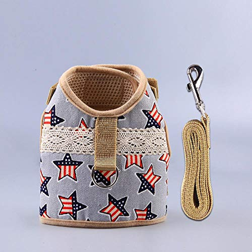 nobrand Herbst Explosion Modelle Hund Kaninchen kleines Haustier Traktionsseil Nachahmung Kleidung Design Weste Typ Brust Set Anzug liefert amerikanische Star-Modelle, M- (empfohlen 5-8 kg)