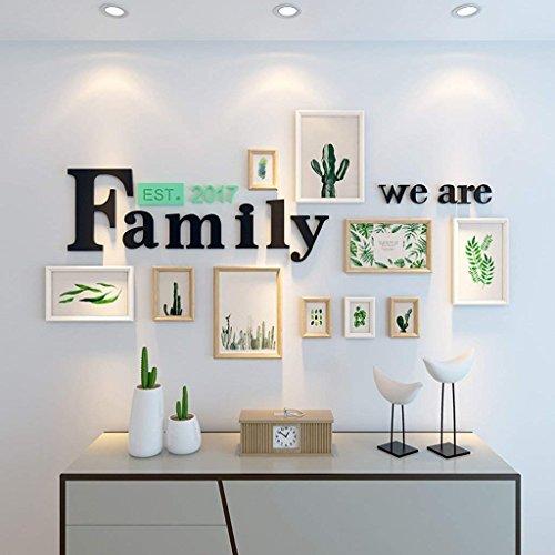 Familiefoto fotolijst set muur collage woonkamer achtergrond decoraties galerij kit