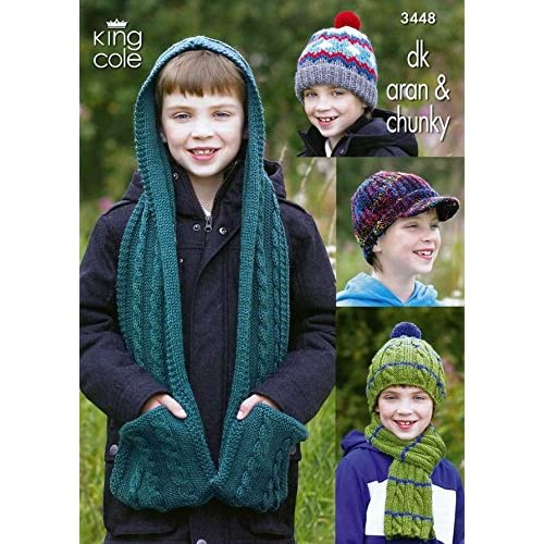 Childrens Hats And Scarf Knitting Pattern Amazon Co Uk